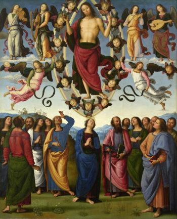 Le Christ quitte ses disciples pour rejoindre son Père dans les Cieux