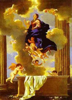 Le corps de Marie est sortie de son tombeau et élévé vers le ciel par les anges de Dieu